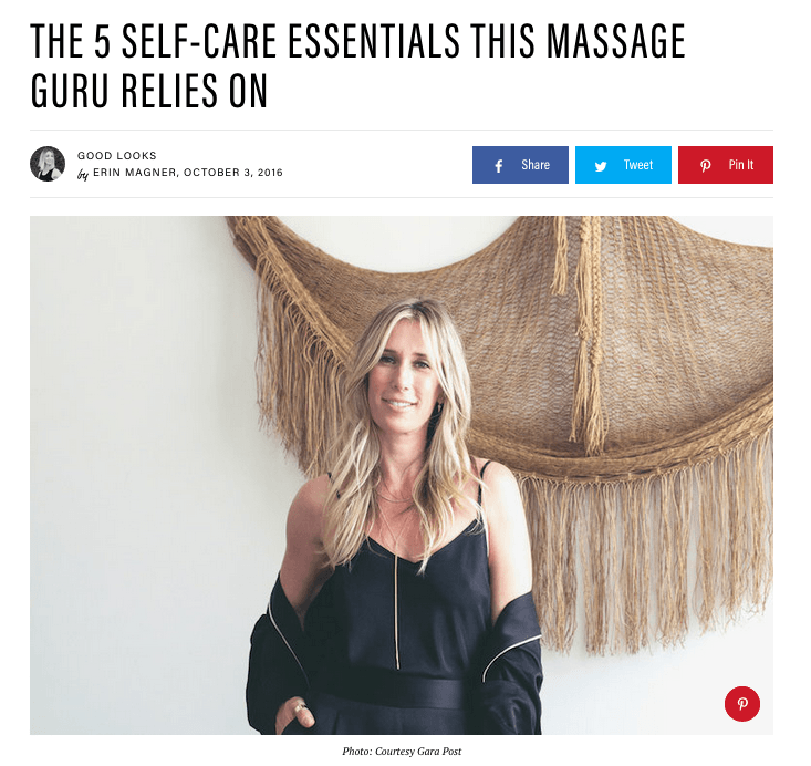 Massage guru loves Bel Mondo Fresh Eyes