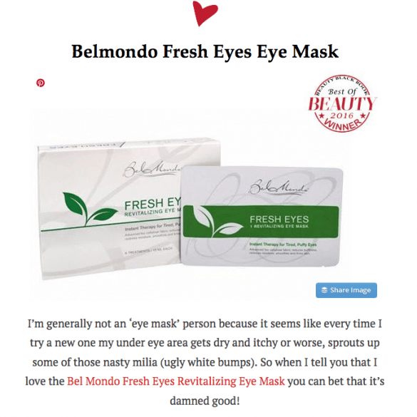 Beauty Black Book Fresh Eyes